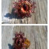 Brown Dragon Eye Ring