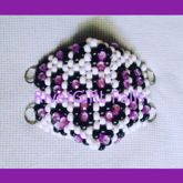 Purple & White Leopard/Cheetah Print Kandi Mask Made By RivetGiRL Falls