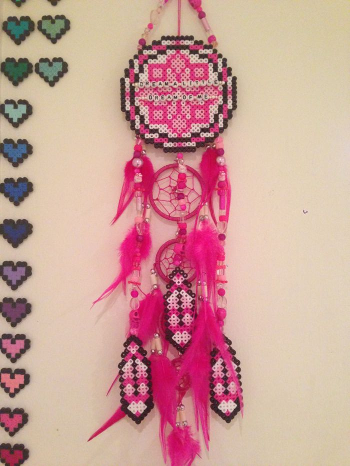 Perler bead dream catcher by princessk kandi photos on for Dreamcatcher beads meaning