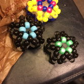 All My 3D Stars I Made Today (yellow Pink And Blue, Black And Blue, And Black And White