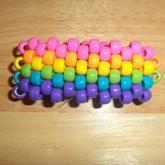 Rainbow Peyote Stitch Cuff