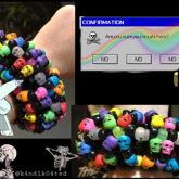 Rainbow Skull 3d Cuff