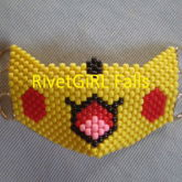 Pikachu Inspired D-Ring Kandi Mask