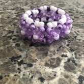 Purple And White 3D Cuff
