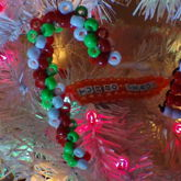 3d Tribead Candy Cane And Bead Santa Hat