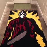 Crochet Jason Voorhees Blanket Using Perler Bead Pattern Found On This Site