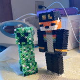 3D Creeper And Fundy (poseable)