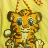 Giant Tiger Perler Necklace