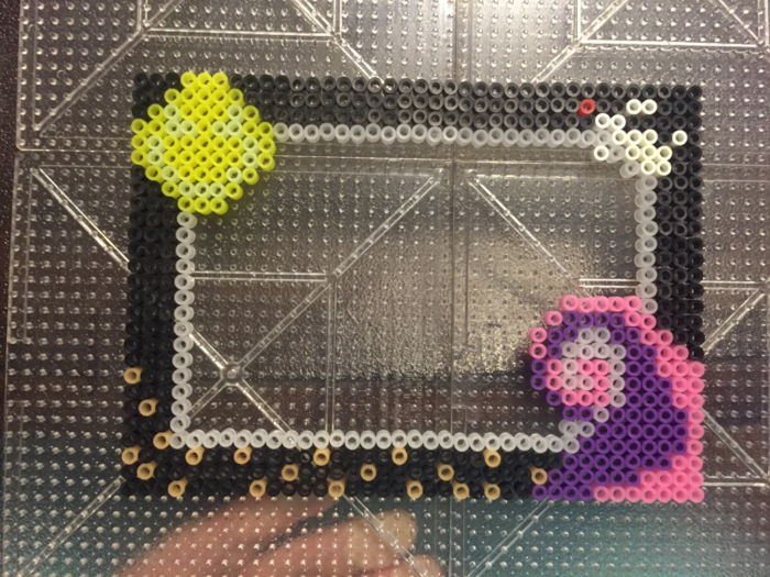 Nightmare Before Christmas Themed Perler Photo Frame By Wolffy