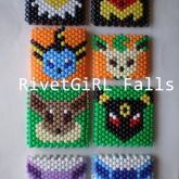 Eevee Evolutions Inspired Kandi Cuff Bracelets