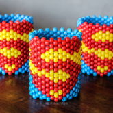Superman Kandi Cuffs