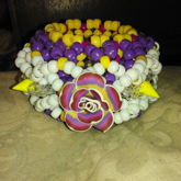 Purpleyellow Spike Flower Cuff