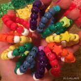 Rainbow Star Slinky Cuff