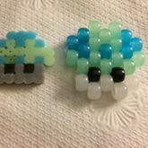 Mini Mario Mushroom Perler Bead And Pony Bead Versions
