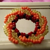 Red Orange And Yellow Galaxy Cuff