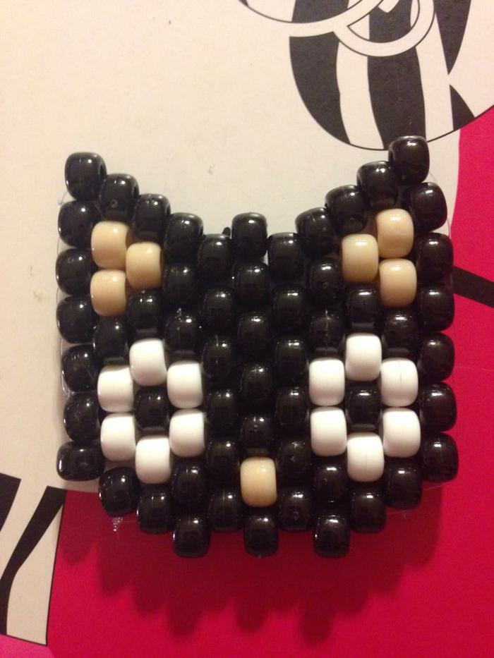 Kandi Bracelet  A Beaded Cuff  Jewelry On Cut Out + Keep