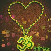 OM/Namaste Perler Necklace I Made
