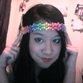 Rainbow Metallic Flower Headband