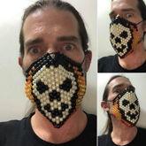 Skull Flame Mask