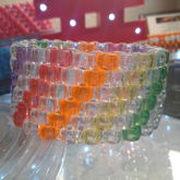 Rainbow Peyote Stitch Cuff