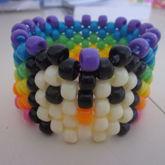 Rainbow Penguin Cuff