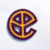 Mini Yellow Claw Perler