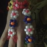 Flower Hand Bracelet /ring Bracelet Cuff