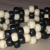 Black And White Kandi Cuff