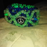 Front Of Cuff For My Friend ,peace Sign And Spikes