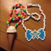 Ice Cream And Bow Necklace