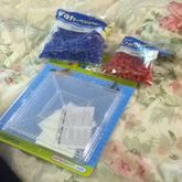 More Blue&red Beads And Large Pegboard