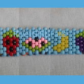 Rainbow Fruits Kandi Cuff Bracelet Made By RivetGiRL Falls