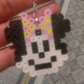 Minnie Mouse Perler Keychain