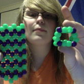 Hulk-themed Kandi Cube & Tie