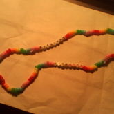 Cross Charm On A Kandi Neckless / NOT FOR TRADE