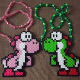 Pink & Green Yoshi Couples Necklaces