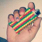 1st (rasta Colors) Kandi Lighter Case :D