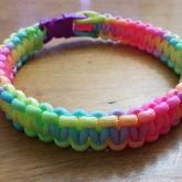 Rainbow Paracord Collar