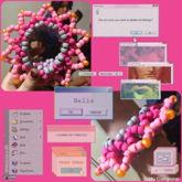 Pink 3d Cuff