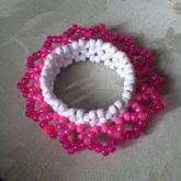 3D Pink/white Cuff