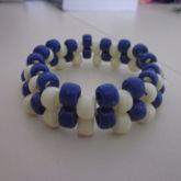 Cream And Blue Cuff