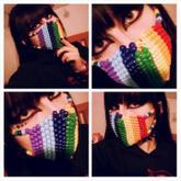 Rainbow Kandi Mask