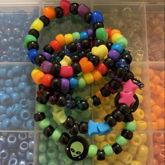 Neon / Rainbow Themed Kandi Singles!