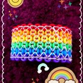 LADDER-STITCH RAINBOW CUFF