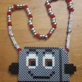 The Brave Little Toaster Perler Necklace