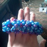 Blue And Purple 3D Cuff