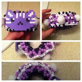 Purple Kitty Cage Cuff