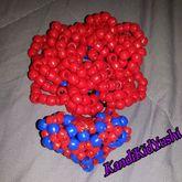 3D Kandi Heart And Kandi Rose