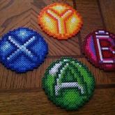 B,A,X,&Y Coasters
