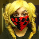 Harley Mask And Wig Pic